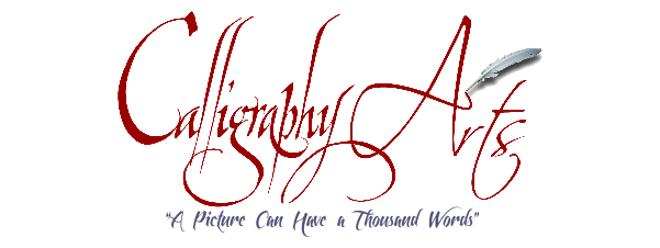 Calligraphy Arts for your beautiful Italian pens, Commissions, Invitations and Greeting Cards